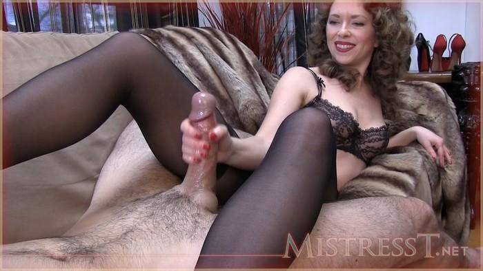 Mistress T - Pantyhose Sniffers Hand Job